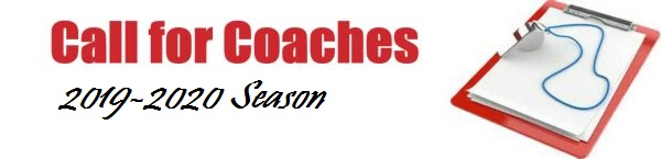 Call for coaches - 2019-2020 season