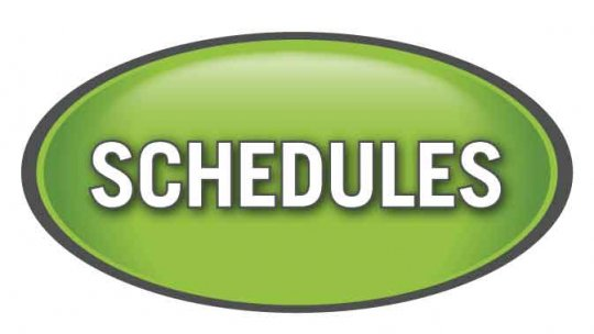 PG Ringette ice schedules